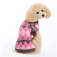 Argyle Scarf Sweater