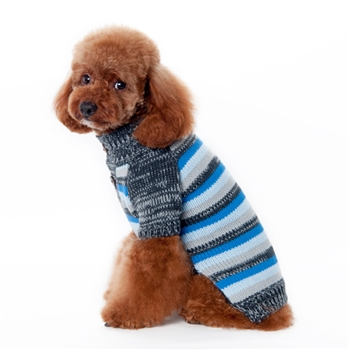 Marl Stripes Sweater Blue