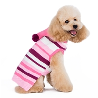 Uneven Stripe Sweater Pink
