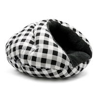 Burger Bed Checkers Black