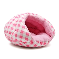 Burger Bed Checkers Pink