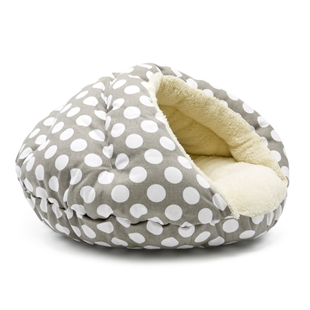 Burger Bed Polka Dot Gray