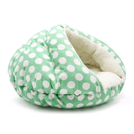 Burger Bed Polka Dot Green