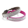 VIP Bling Collar Fuschia Pink/Gray
