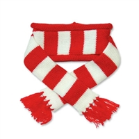 Urban Stripe Scarf Red