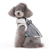 Furry Harness Vest Houndstooth