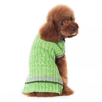 City V-Neck Sweater Green